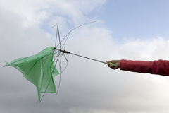 Broken Umbrella Stock Photography