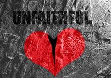 Broken unfaithful heart Stock Image