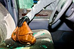 Broken-up car, theft Stock Photos