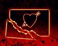 Broken up love. Under the black background vector illustration