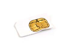 Broken used mobile phone sim card Stock Photo