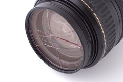 Broken UV filter Stock Photos