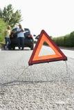 broken väg för landspar ner Fotografering för Bildbyråer