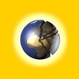 broken värld royaltyfri illustrationer