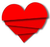 Broken Valentine Heart Pieces Overlap Royalty Free Stock Image