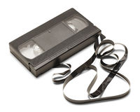 Broken VHS Tape royalty free stock photo