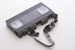 Broken video cassette Royalty Free Stock Images