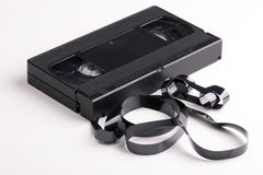 Broken video cassette Stock Photo