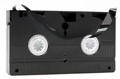 Broken video cassette Stock Photos