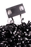 Broken video tape Royalty Free Stock Photo