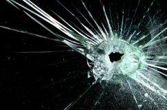 broken vindruta Fotografering för Bildbyråer