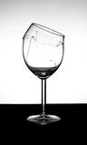 Broken vine glass Royalty Free Stock Photography