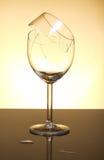 Broken vine glass Royalty Free Stock Photography