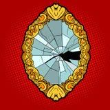 Broken vintage mirror pop art style vector Stock Photography