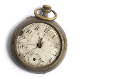 Broken vintage pocket watch Royalty Free Stock Photography