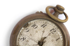 Broken vintage pocket watch Royalty Free Stock Images