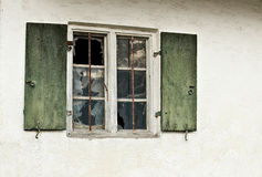 Broken vintage window Royalty Free Stock Image