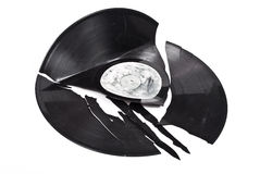 Broken vinyl Royalty Free Stock Photography