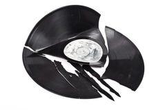 Broken vinyl royalty free stock photography