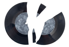 Broken vinyl Stock Photography