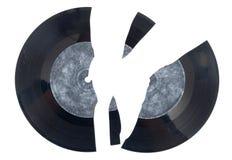 Broken vinyl Arkivbild