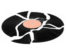 Broken vinyl record Stock Photography