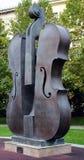 Broken Violin sculpture in Piata Universitatii, Bucharest Royalty Free Stock Photos
