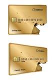 Broken vip gold credit card Royalty Free Stock Images