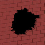 Broken wall. Vector illustration of 3D broken wall Royalty Free Stock Photo