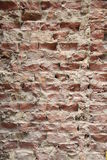 Broken wall. A background with broken bricks Royalty Free Stock Photography