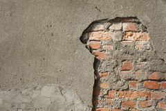 Broken Wall Royalty Free Stock Photos