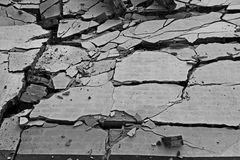 Broken wall background. Black and white of broken wall background Stock Image