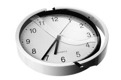 Broken Wall Clock Stock Photos