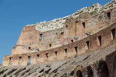 Broken Wall in Colisuem Under Blue Sky Royalty Free Stock Images