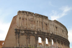 Broken wall of the Colosseum. Rome Stock Image