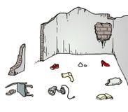 Broken wall illustration Royalty Free Stock Image