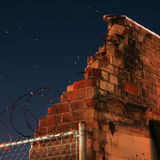 Broken Wall & Night Sky Stock Photo