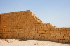 Broken Wall Of Ancient Temple Stock Image