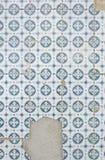Broken wall tiles Royalty Free Stock Photo