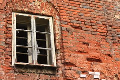 The broken wall and window Royalty Free Stock Images