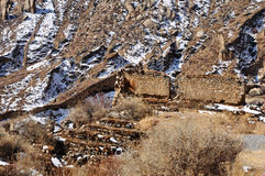 Broken walls of Relic Drepung Monastery Royalty Free Stock Photo