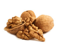 Broken walnut isolated Royalty Free Stock Image