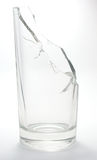 Broken Water Glass. Broken water glass  on white background Royalty Free Stock Photography