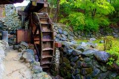 Broken Water Wheel. In korea Stock Photos