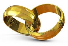 The broken wedding rings Stock Photos