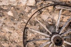 Broken wheel. Photograph of an old broken wheel, Mallorca, Spain royalty free stock photos