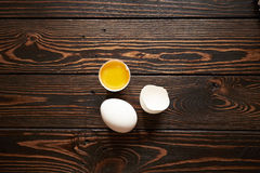 Broken white egg Stock Image