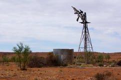 Broken Outback Windmill Stock Photos