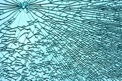 Broken window. As abstraction picture Stock Image