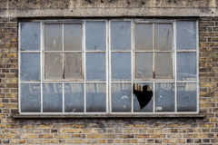 Broken window Royalty Free Stock Image